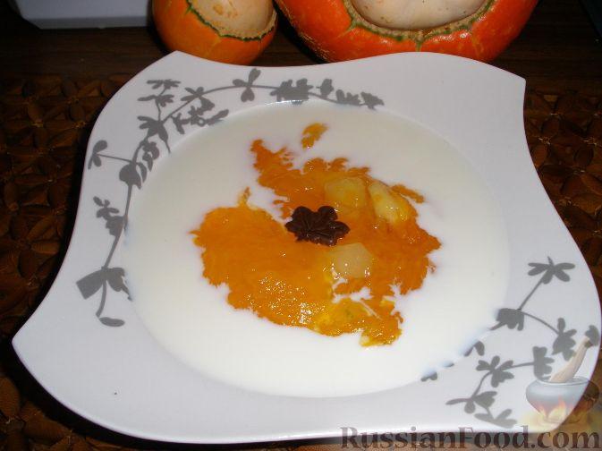 Рецепт Тыквенно-ананасовый кисель - густой