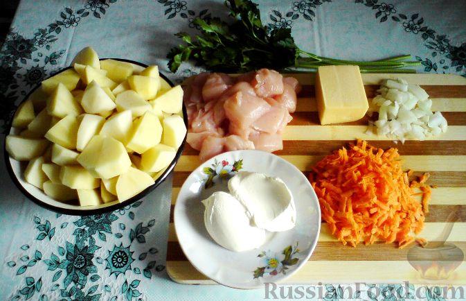 Куриные грудки с картошкой на сковороде рецепт