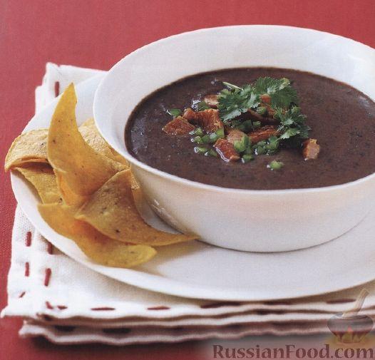 Рецепт Пикантный суп из фасоли