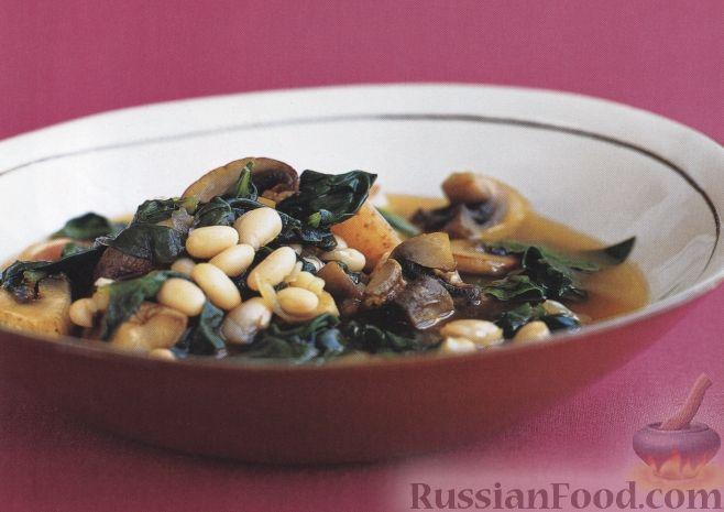 Рецепт Картофельное рагу с грибами и фасолью