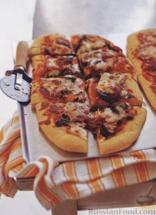Рецепт Пицца с салями и оливками