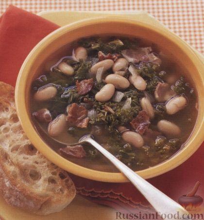 Рецепт Суп с фасолью и беконом