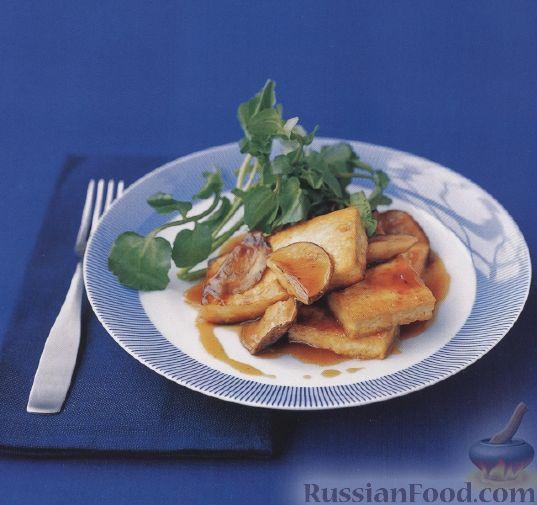 Рецепт Жареный тофу с шампиньонами