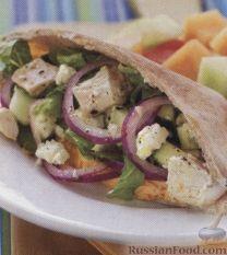 Рецепт Лаваш с куриным салатом