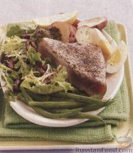 Рецепт Жареный тунец с прованскими травами