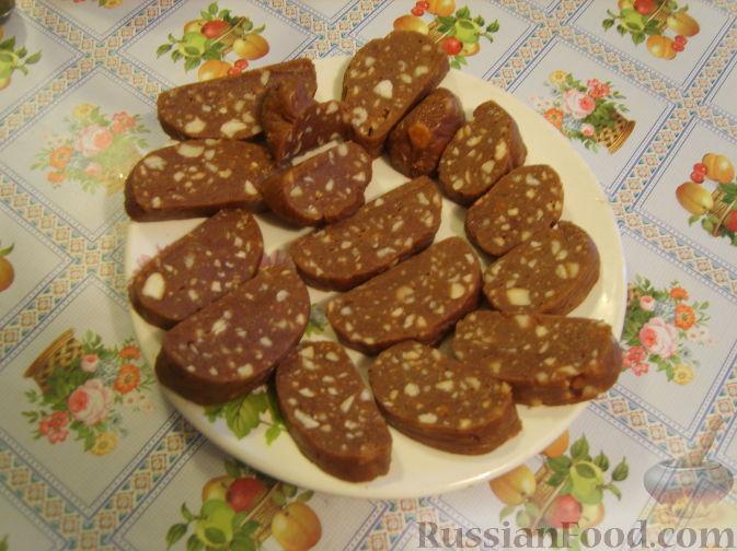 Рецепт Колбаска шоколадная (рецепт из детства)
