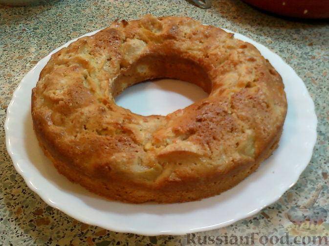 Рецепт Бисквитно-яблочное колечко