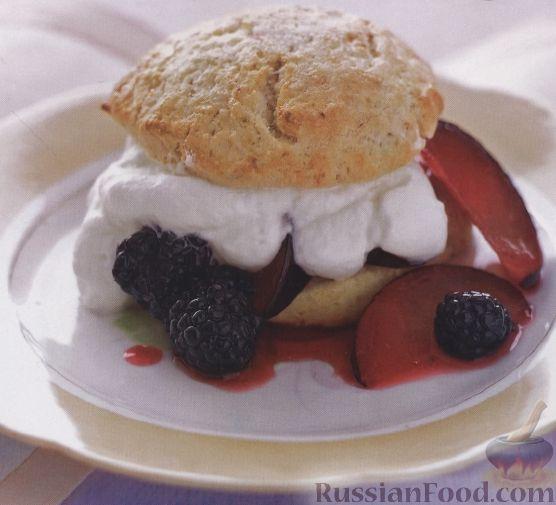 Рецепт Пирожное с фруктово-ягодной начинкой