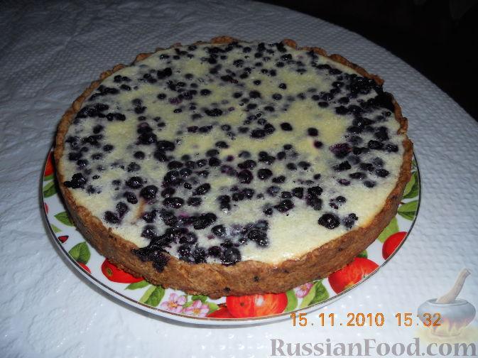 Пирог черника под снегом