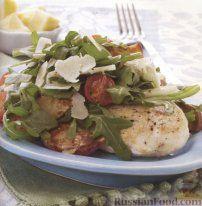 Рецепт Куриные стейки с салатом из руколы