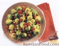 Фото к рецепту: Салат из брюссельской капусты с беконом