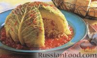 Фото к рецепту: Фаршированная савойская капуста