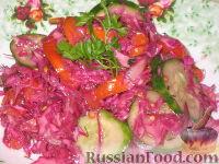 Фото к рецепту: Салат из краснокочанной капусты