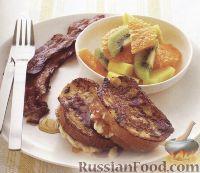 Фото к рецепту: Гренки с абрикосовым джемом
