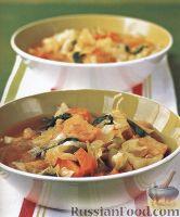Фото к рецепту: Овощной суп с гренками