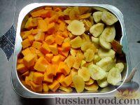Фото приготовления рецепта: Тыква, запеченная в духовке с яблоками и айвой - шаг №1