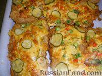 Фото к рецепту: Пангасиус в сырно-овощной шапочке