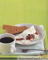 Фото к рецепту: Необычный омлет с козьим сыром