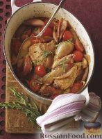 Фото к рецепту: Тушеная курица с шалотом
