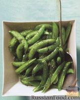 Фото к рецепту: Жареный стручковый зеленый горошек