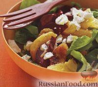 Фото к рецепту: Салат из апельсина, свеклы и аругулы