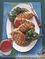 Фото к рецепту: Куриная грудка на гриле с перечным соусом