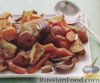Фото к рецепту: Печеные овощи