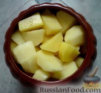 Фото приготовления рецепта: Картошка в горшочках с куриным филе - шаг №5