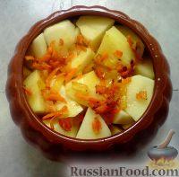 Фото приготовления рецепта: Картошка в горшочках с куриным филе - шаг №6