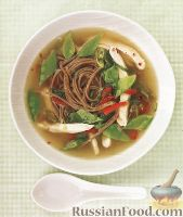Фото к рецепту: Суп с гречишной лапшой