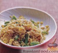 Фото к рецепту: Салат из макарон орзо