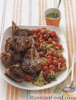 Фото к рецепту: Жареная баранина с фисташковым соусом