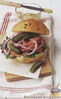 Фото к рецепту: Сендвич с жареной говядиной