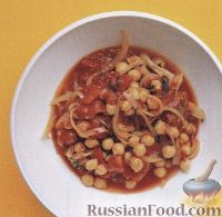 Фото к рецепту: Турецкий горох с томатным соусом