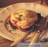 Фото к рецепту: Тосты с яблоками и сыром