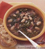 Фото к рецепту: Суп с фасолью и беконом