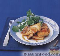Фото к рецепту: Жареный тофу с шампиньонами