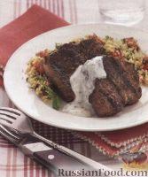 Фото к рецепту: Баранина с йогуртовым соусом