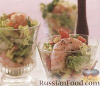Фото к рецепту: Креветки с манговым соусом