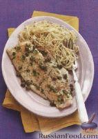 Фото к рецепту: Морской окунь с лимонным соусом