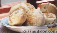 Фото к рецепту: Кукурузные маффины с сыром, луком и чесноком