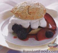 Фото к рецепту: Пирожное с фруктово-ягодной начинкой