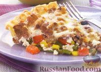 Фото к рецепту: Открытый пирог с купатами и овощами