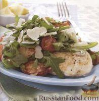 Фото к рецепту: Куриные стейки с салатом из руколы