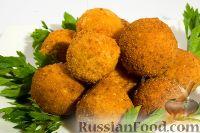 Фото к рецепту: Постные картофельные шарики, фаршированные грибами