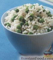 Фото к рецепту: Рис с зеленым горошком