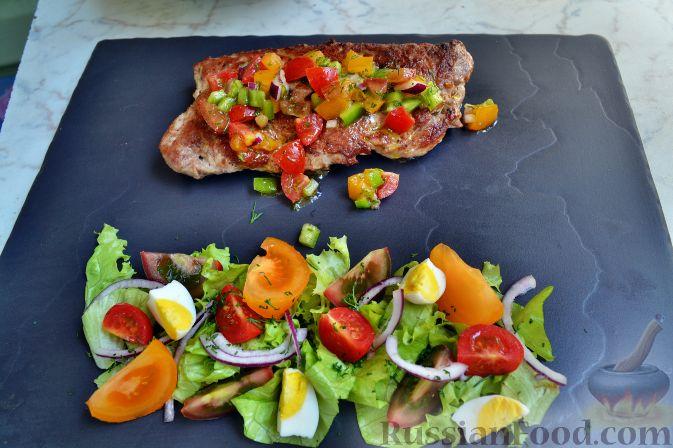 Рецепт Свинина, фаршированная брынзой и копченой колбаской