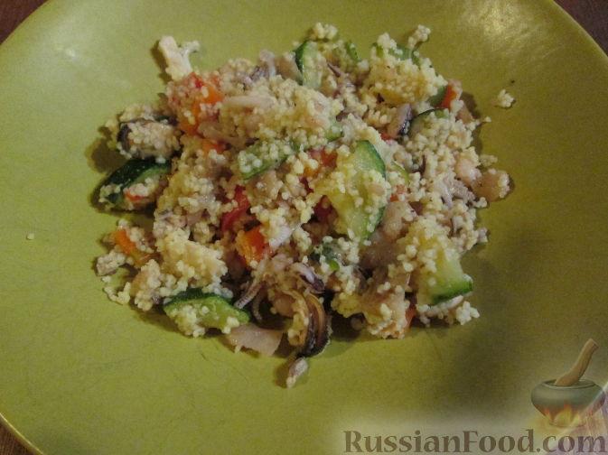 Рецепт Кус-кус с морепродуктами