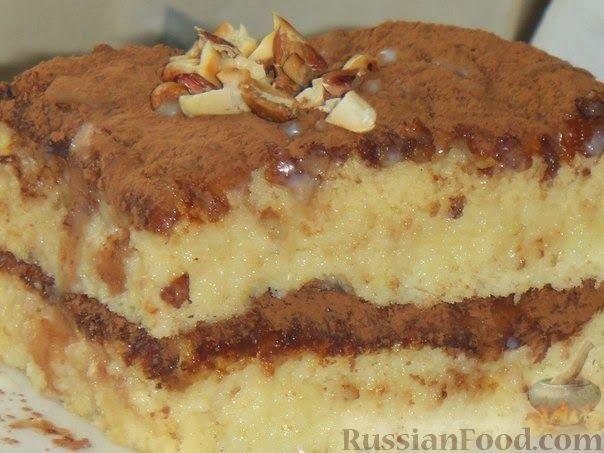 Рецепт Бисквитный торт пропитанный сгущенкой