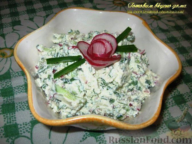 Салат из творога фото